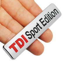 Metal Red TDI Sport Edition Logo Turbo Car Letter Sticker Emblem Chrome Badge Decals for VW POLO GOLF CC TT JETTA GTI TOUAREG(China)