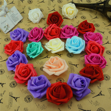 Cheap10pcs 6cm Foam Artificial Fake  Rose Flower Head For Wedding Car Marriage room Decoration DIY Garland Decorative Floristry