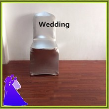 Banquet cheap chair cover silver metalic chair cover for sale China(China)