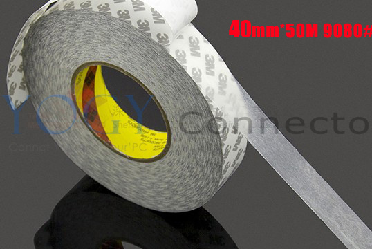 40mm*50M Double Coated Adhesive Tape, Surface Sticky, Good Adhesion 3M 9080, Tablet Wire and Cable Clip Attachment<br>