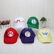 Super Mario Bros Baseball Hat Caps Wario Waluigi Mario Luigi Hats 5 colors plush toys