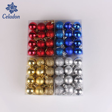 24pcs High Quality 3CM Ball Glitter Chic Christmas Baubles Ornament Ball Party Home Garden Decor