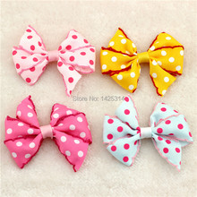 24pcs Wool Crochet lace Point Hair Bow Ribbon Big Bow Baby hair accessories Cute Princess New Headwear Children Party headdress
