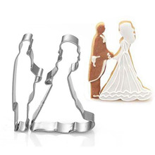 Bride Groom Shape Metal Cookie Cutters Mold Cake Chocolate Egg Fondant Mould Biscuit Pastry Set Party Kitchen DIY Tools