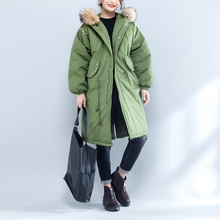 [GUTU] Autumn Winter New Pattern 2017 Fashion Solid Color Hooded Collar Long Sleeve Casual Style Keep Warm Coat Women M75401(China)