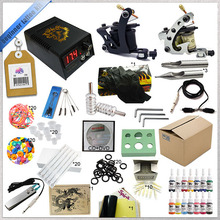 Complete Tattoo Kit, 2 Tattoo Machine Set , Tattoo Equipment Power Supply Kit.