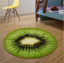 Kawai Fruit Blanket Carpet Round 100cm Floor Rugs Mats Anti-skid Carpets For Living Room Computer Swivel Chair Cushion Alfombras