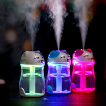 Lucky Cat Shape Mini Air Humidifier Desktop USB Oil Essential Aroma Diffuser Mist Maker Fogger Night Light