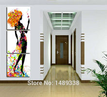 Abstract Figure painting Fashion living room decoration pictures Art Picture Paint on Canvas artwork painted with frame GA689
