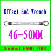 BESTIR taiwan industry tools 46-50MM Double ended Ring wrench Cr-V fine forged finishing polish,NO.52336 wholesale