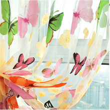 Window Screening Curtains Butterfly Yarn Modern Curtain for Living Room Bedroom Window Door Decorative Blinds Custom Made M01