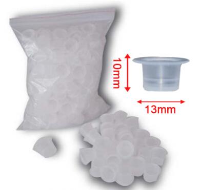100pcs 10*13mm Plastic Disposable Tattoo Ink  Holder Cups Pigment Supplies Permanent Makeup