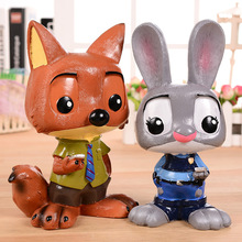 Cute Cartoon Piggy Bank Resin Rabbit Coin Piggy Bank Novelty Money Box Children Gift Ideas Large tirelire BOX(China)