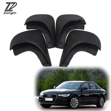 ZD Car Front Rear Mudguards For Audi A6 C5 1998 1999 2000 2001 2002 2003 2004 2005 accessories Mudflaps Car-styling 1Set Fenders(China)