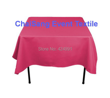Extra Thicker 150cm Square Fuchsia Pink Table Cloth,Polyester Plain Table Cloth,Square table cloth For Wedding &Hotel&Banquet