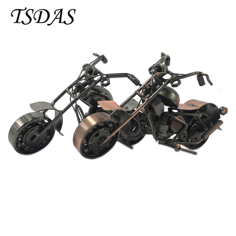 2 Colors Metal Motorcycle Model Bar Decoration Handmade Crafts Motorbike Scooter Kids Birthday Gift  -  No.1 Fashion Home store
