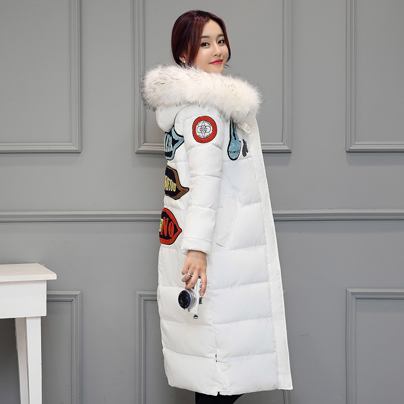 2016 New Winter Down Cotton Parkas Jacket Female Thick Warm Fur Collar Hooded Outwear Women Bread Cotton-Padded Knees Long CoatsОдежда и ак�е��уары<br><br><br>Aliexpress