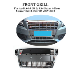 S4 Type Chrome Frame Front Hood Grill Grille Fit For Audi A4 B8 RS4 S4 09-12