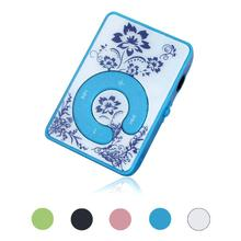 Carprie New Mini Clip Flower Pattern MP3 Player Music Media Support Micro SD TF Card Hot 17Aug28 Dropshipping(China)