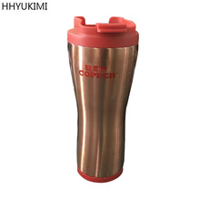 HHYUKIMI Household Thermos Flasks Red Copper Mug Ceramic Lining 16 oz,Spill-proof Car Travel Cup Keep Warm for Coffee Cups(China)