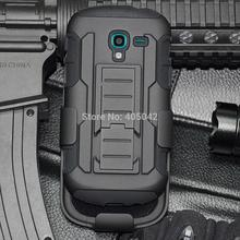 Stand Case For Samsung Galaxy Exhibit T599 Protective Armor Impact Hard Case Cover+Holster With Belt Clip(China)
