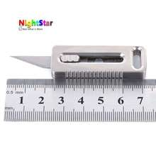 Mini EDC Titanium TC4 Knife Paper Cutter Key Pendant Outdoor Travel Tool Handle Camping Outdoor coin Tactical Survival Knife