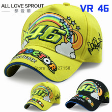 2016 Rossi 46 embroidered rainbow baseball cap hat VR46 Motorcycle Racing Cap Men Baseball Hat adjustable bones snapback(China)