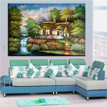 Home Printed SKYLINE Thomas Kinkade NO FRAME Landscape Oil Painting Canvas Prints Wall Art Pictures For Living Room Decorations(China)