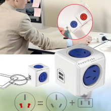 Power Cube Multiple Power Socket Travel Plugs Outlet Adapter Electrical Fittings(China)