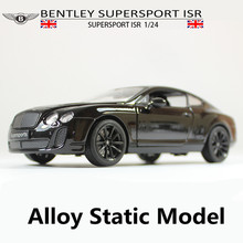 1:24 static alloy car models, toy cars Bentley high simulation, metal Diecasts, Toy Vehicles, free shipping