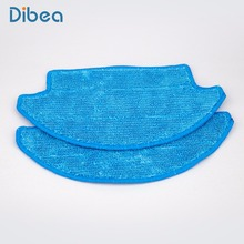 2pcs Mop Cloth for Dibea D900 Powerful Suction Automatic Self-charging Floor Cleaner Dry/Wet Mopping Auto-Charging(China)