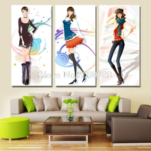 Cartoon Girls Painting Full Square DIY Diamond Painting Cross Stitch Kits Mosaic Embroidery Diamond Painting Illustrations Gift