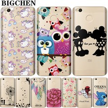 BigChen For Xiaomi Redmi 4X Case Soft Silicone Popular Cute Cartoon Cases for xiaomi redmi 4x 4 X 4X Pro Cover(China)
