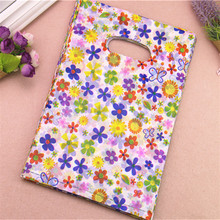 2017 New Style Wholesale 100pcs/lot 20*30cm Colorful Sunflower Packaging Gift Pouches Plastic Shopping Present Gift Bags