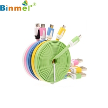 Factory Price Binmer New Micro USB Cable Data Sync Charger Cord Fabric For Android Phone 1M Drop Shipping Nov28 Drop Shipping