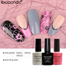 5pcs/lot Nail Art Design Manicure Set IBCCCNDC 10Ml Soak Off Gel Polish LED UV Gel Nail Polish Lacquer Varnish Base Top Coat(China)