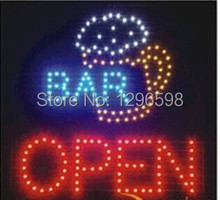 2017 direct selling custom led sign 19x19 Inch indoor Ultra Bright flashing  Bar pub business store open signboard