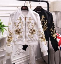 2017 spring flower embroidery bomber jacket women jacket coat Casaul baseball jacket