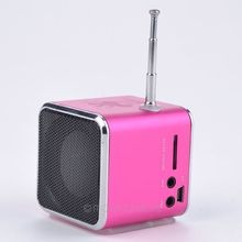 Portable Micro Audio Amplifier USB Mini Speaker Music Player Outdoor FM Radio Stereo Phone Laptop MP3 MP4 Players Speakers(China)