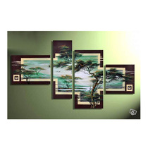 4 Piece Cheap Modern Canvas Art Decoration Oil Living Room Wall Decor Painting Cheap Wall Frameless Multi Panel Canvas Wall Art(China)