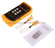 Brand LCD 5 Digital Display Precision Two K-Type Microprocessor Digital Thermometer & DHL/UPS/FEDEX/EMS Free Shipping