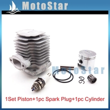 3 Electrode L7T Spark Plug + 40mm Cylinder Head + 10mm Piston Pin Ring For 47cc 2 Stroke Engine Mini Quad ATV Pocket Dirt Bike