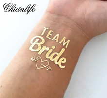 1Pcs Team Bride Temporary Tattoo Bachelorette Party bride tribe Flash Tattoos  Bridesmaid gift bridal shower wedding decoration