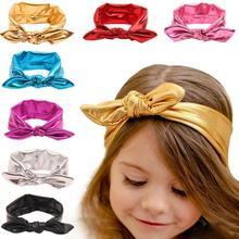 Top Selling Rabbit Ear Headband Elastic De Cabelo il Head Band Fashion Design 2017 for Toddlers Lacos Vicky(China)