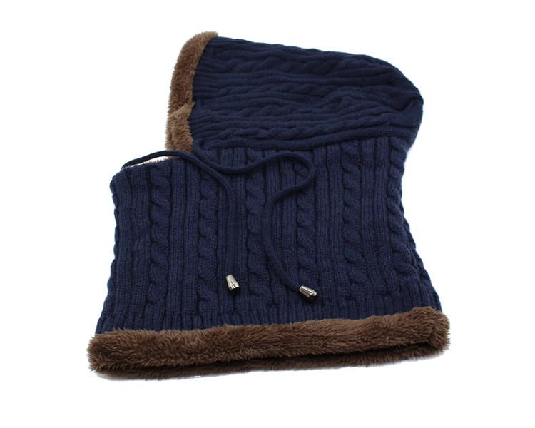 قبعة و وشاح رجالي دافئ 18
