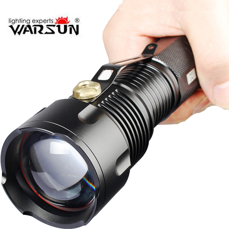 Warsun Powerful tactical led Flashlight T6 1000 Lumens use AA 26650 Rechargeable Zoomable waterproof portable hunting<br><br>Aliexpress