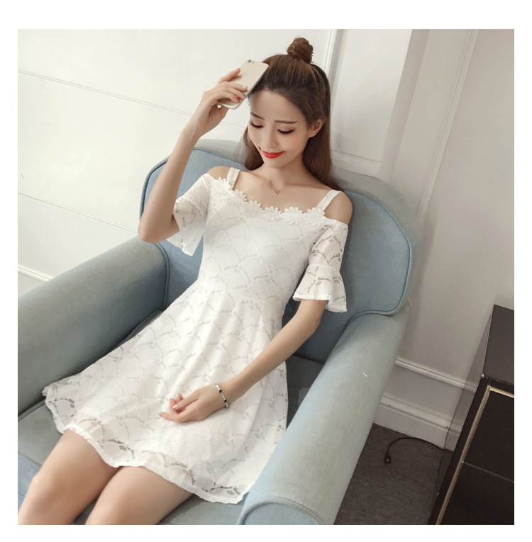 18 New fashion women summer lace sexy dress white Korean style clothes for womens vestido de festa mini white clothings 10