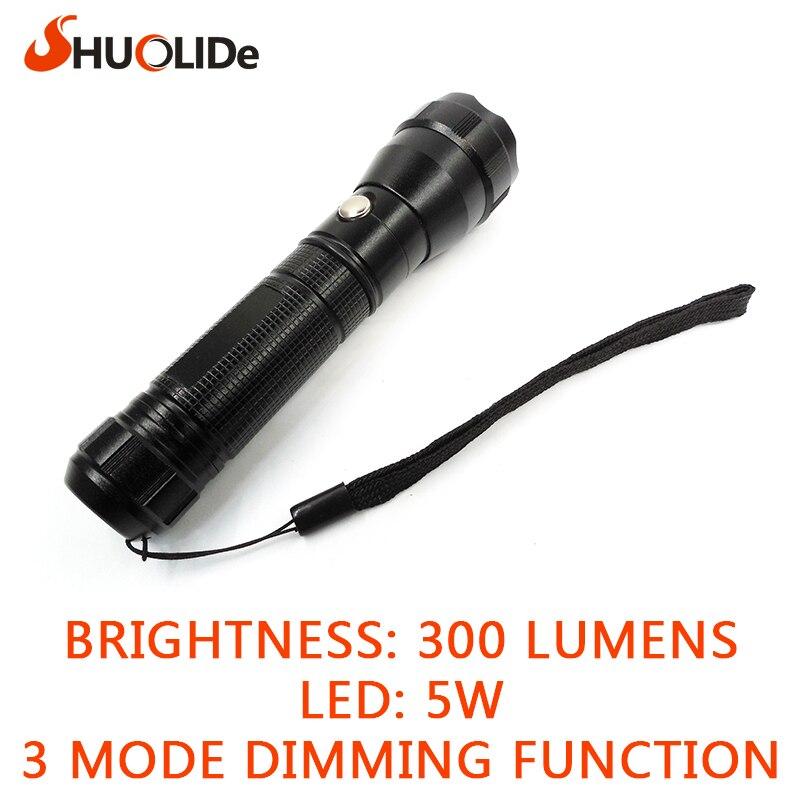 free shipping Mini penlight 300 LM Waterproof LED Flashlight Torch 3 Modes Lantern Portable night Light rechargable use 1*18650<br><br>Aliexpress
