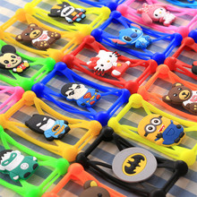 Universal Anti-Shock Silicone Phone Bag Case For TeXet TM 4972 X square Cartoon Cover for All Mobile Phone 3.7 ~ 6.0 inch(China)