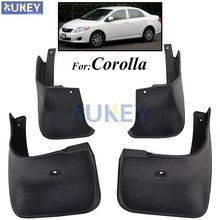 For Toyota Corolla Altis E140 2007-2013 Mudflaps Splash Guards Mud Flap Front Rear Mudguards Fender 2008 2009 2010 Mud Flaps(China)